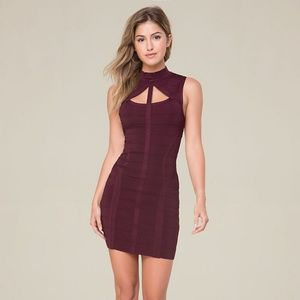 68b03752bf bebe Dresses - Bebe burgundy bandage dress